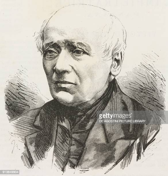 Portrait of Giuseppe Francesco Baruffi Italian science scholar and traveler illustration after a photo by Michele Schemboche from the magazine...