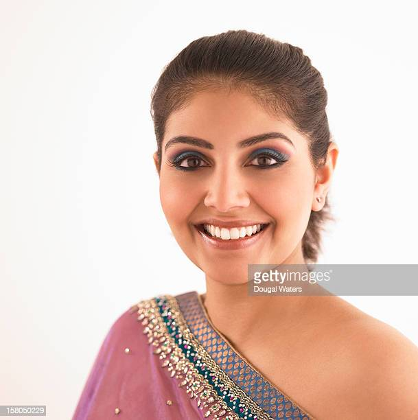 Portrait of glamorous Indian woman.