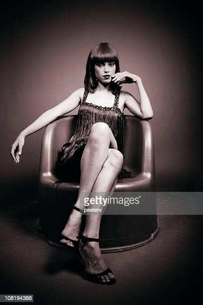 Portrait of Glamorous Woman, Sepia Toned