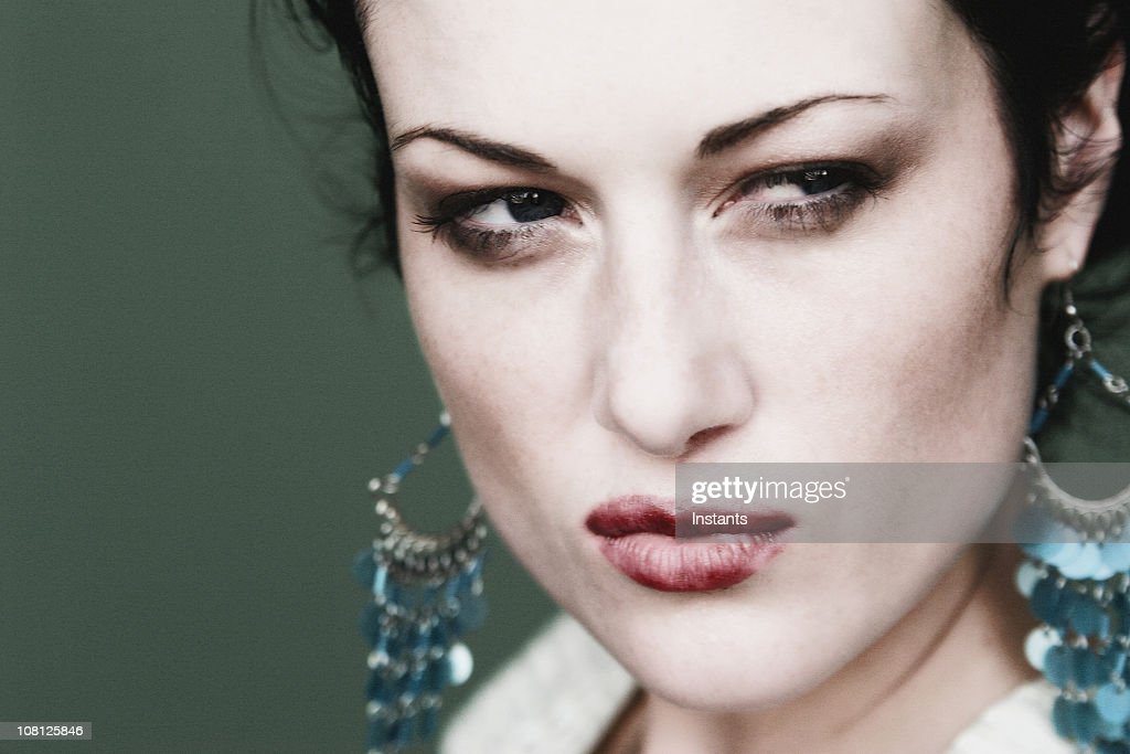Portrait Of Glaring Woman High-Res Stock Photo - Getty Images