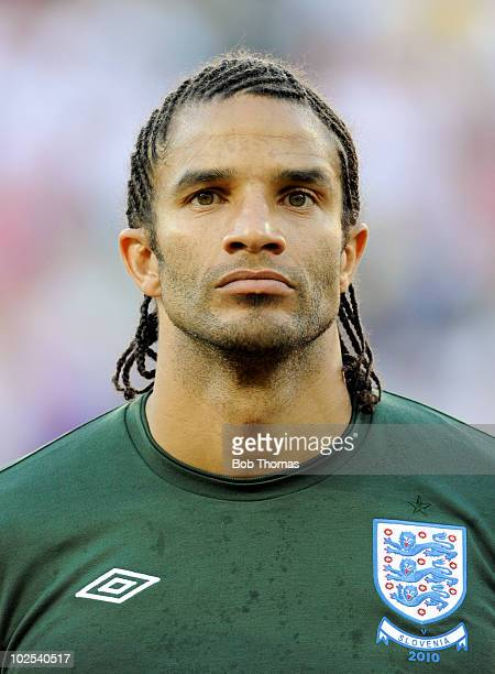 Portrait of goalkeeper David James of England before the start of the 2010 FIFA World Cup South Africa Group C match between Slovenia and England at...