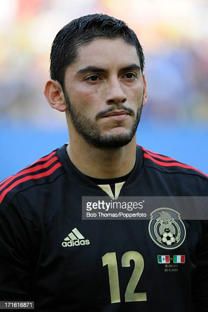 Portrait of goalkeeper Jose Corona of Mexico before the start of the FIFA Confederations Cup Brazil 2013 Group A match between Mexico and Italy at...