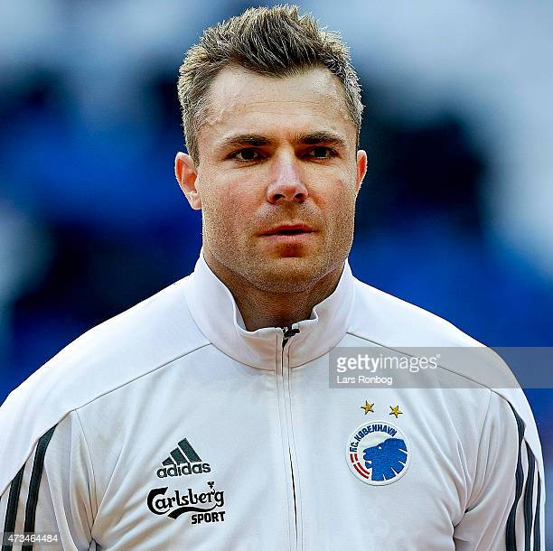 Portrait of Goalkeeper Stephan Andersen of FC Copenhagen who looks on prior to the DBU Pokalen Cup Final match between FC Vestsjalland and FC...