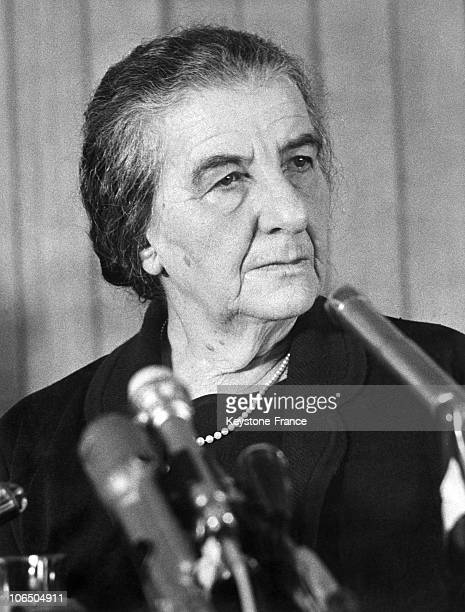 Portrait Of Golda Meir Right After Her Appointment As Israel Prime Minister Succeding Levi Eshkol On March 22Nd 1969
