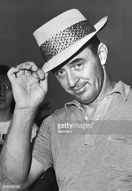 1950 Portrait of golfer Sam Snead tipping his hat
