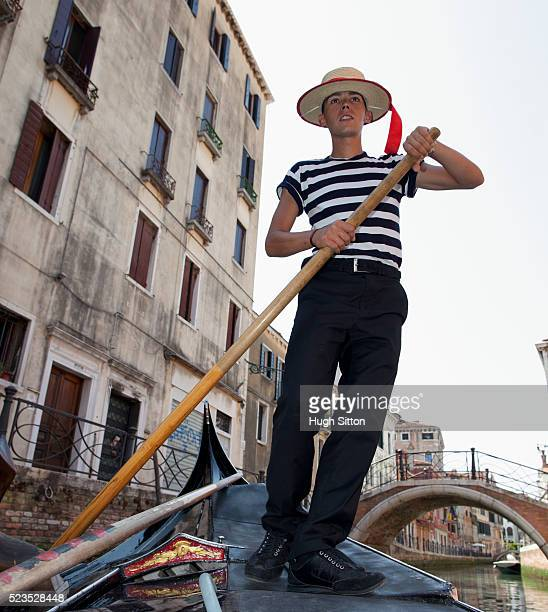 portrait of gondola driver, venice, italy - hugh sitton stock pictures, royalty-free photos & images