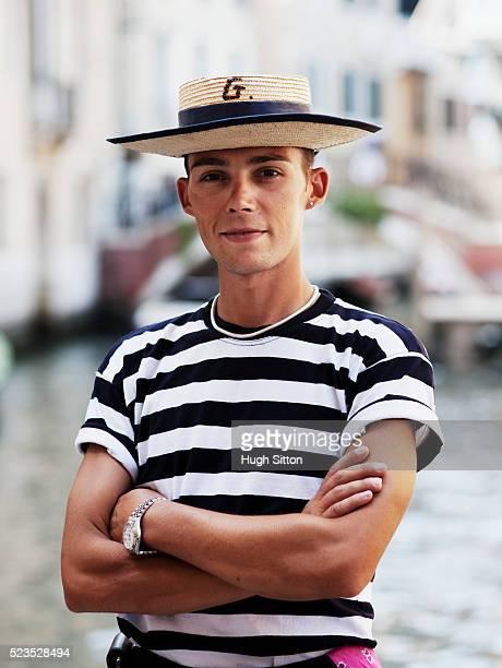 Portrait of gondola driver, Venice, Italy