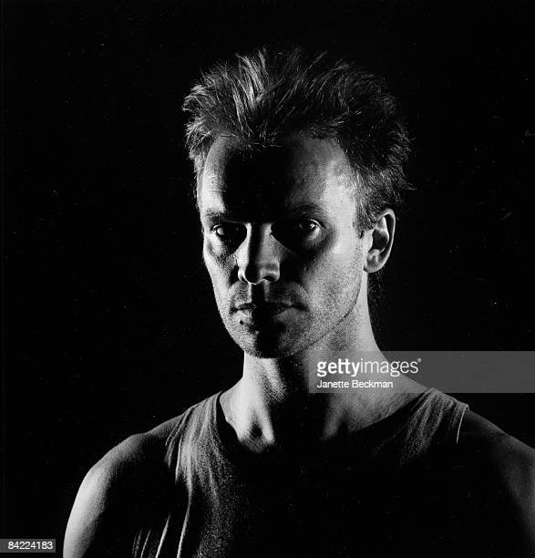Portrait of Gordon Sumner aka Sting lead singer and bassist for the band 'The Police' taken for their Greatest Hits album 1980 London