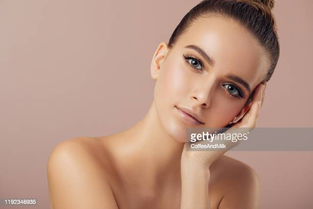 portrait of gorgeous young woman - beauty stock pictures, royalty-free photos & images