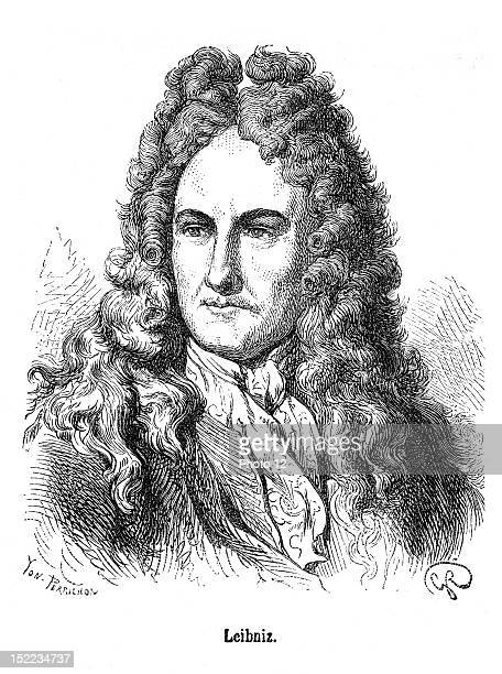 Portrait of Gottfried Wilhelm Leibniz who was a german philosopher, scientist, mathematician and diplomat.