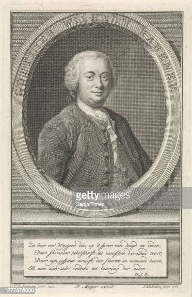 Portrait of Gottlieb Wilhelm Rabener Gottlieb Wilhelm Rabener , Half-length portrait to the right of Gottlieb Wilhelm Rabener in an oval with border...