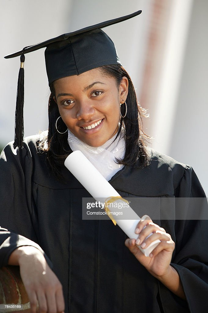 Portrait of graduate : Stockfoto