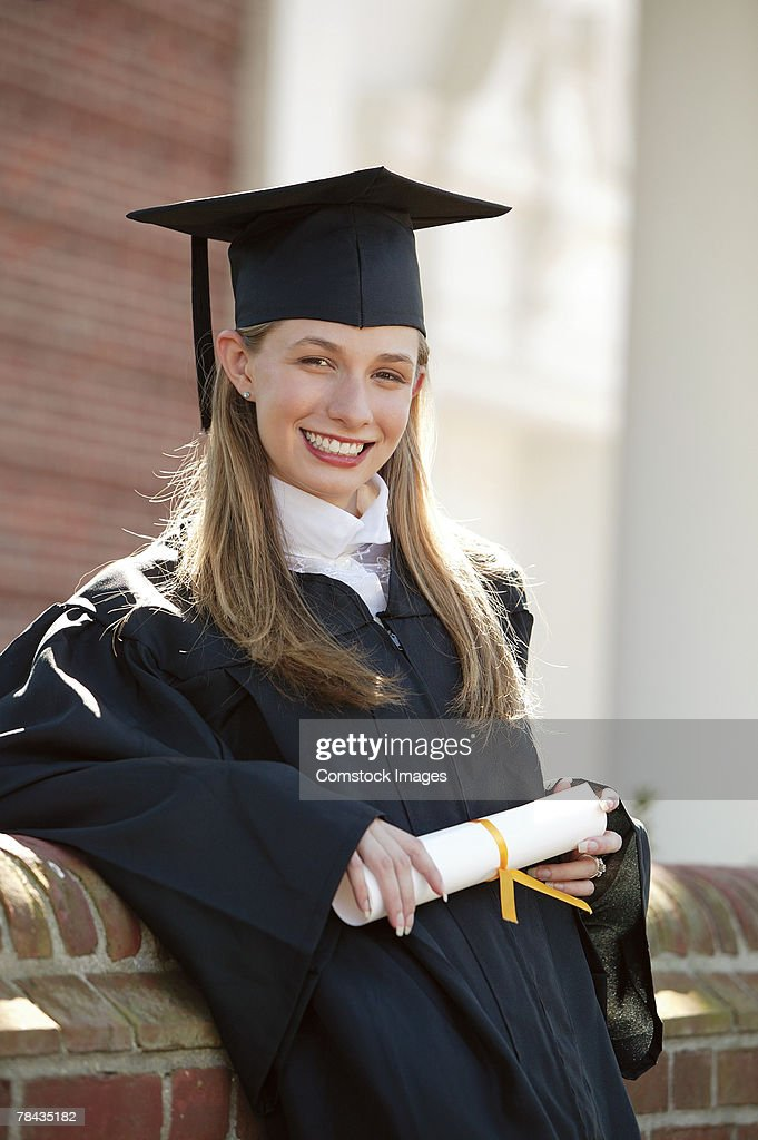 Portrait of graduate : Stock Photo