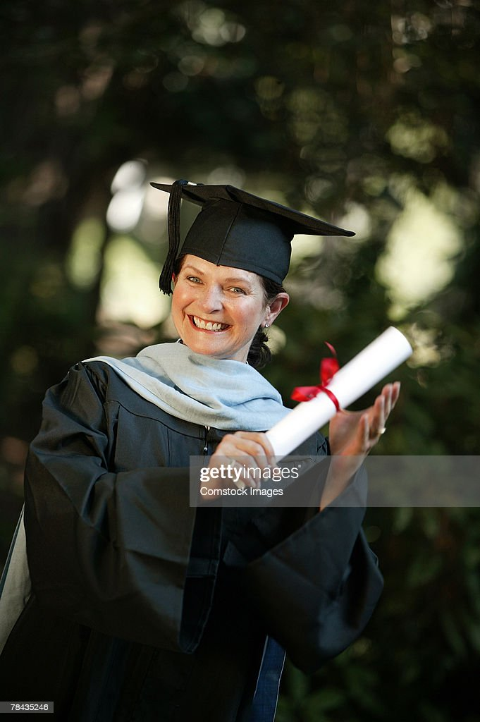 Portrait of graduate : Stockfoto