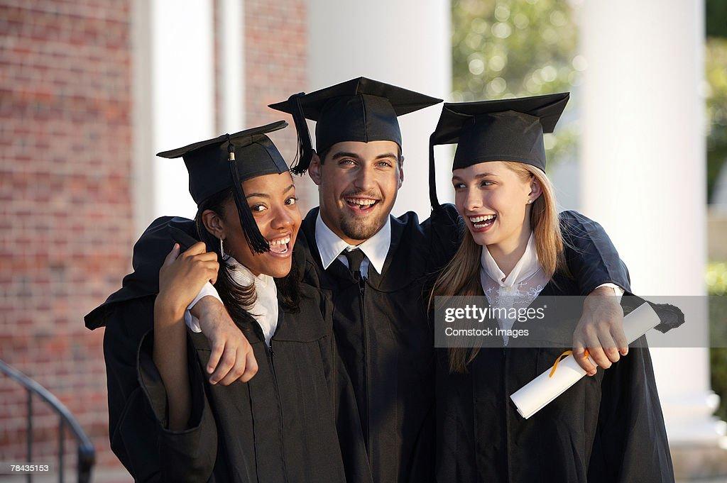 Portrait of graduates : Stockfoto