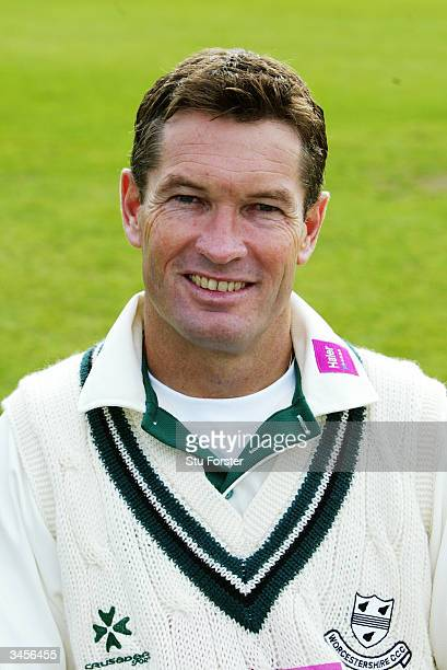 Portrait of Graeme Hick of Worcestershire taken during the Worcestershire County Cricket Club photocall held on April 14 2004 at the County Ground in...