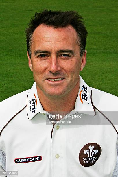 Portrait of Graham Thorpe of Surrey taken during the Surrey County Cricket Club Photocall at the Brit Oval on April 5 2005 in London