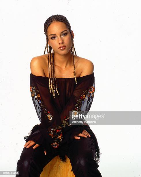 Portrait of Grammy Award winning American singer Alicia Keys New York New York 2001