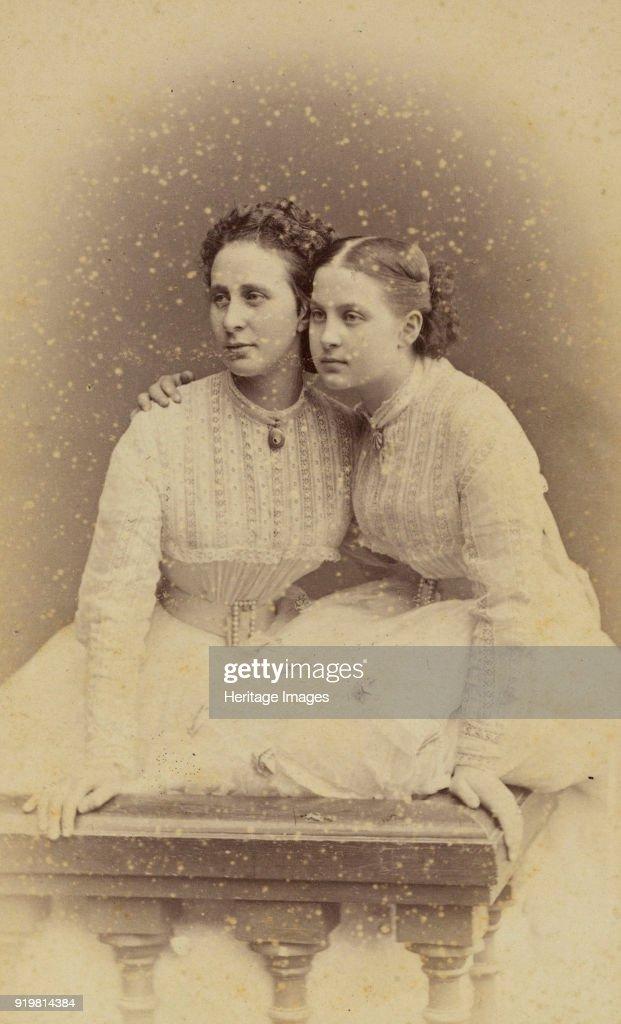 Portrait Of Grand Duchess Alexandra Iosifovna (1830-1911) And Grand Duchess Olga Constantinovna Of R : News Photo