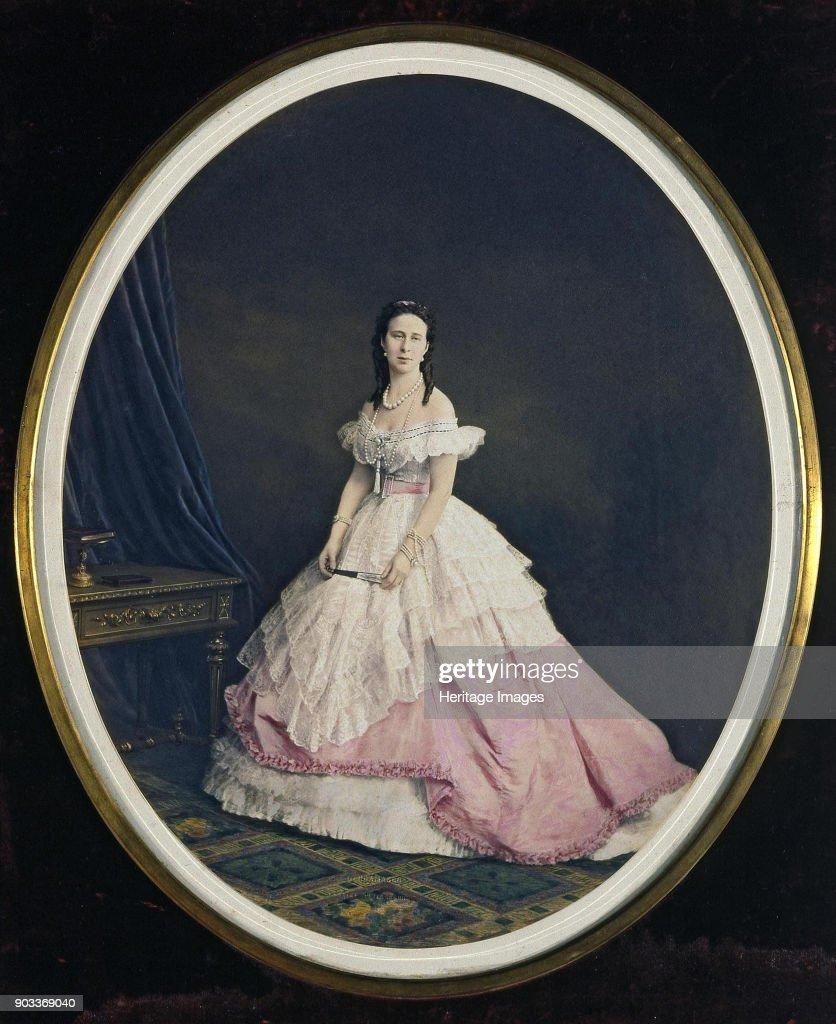 Portrait Of Grand Duchess Alexandra Iosifovna Of Saxe-Altenburg (1830-1911) : News Photo