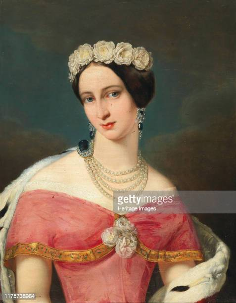 Portrait of Grand Duchess Alexandra Iosifovna of Saxe-Altenburg . Private Collection. Artist Anonymous.