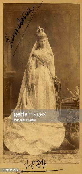 Portrait of Grand Duchess Elizaveta Mavrikievna of Russia 1884 Found in the collection of Russian State Film and Photo Archive Krasnogorsk