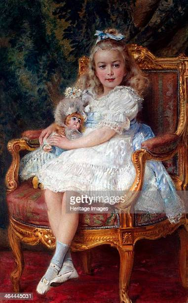 Portrait of Grand Duchess Maria Nikolaevna of Russia' 1905 Makovsky Konstantin Yegorovich Found in the collection of the State Hermitage St Petersburg