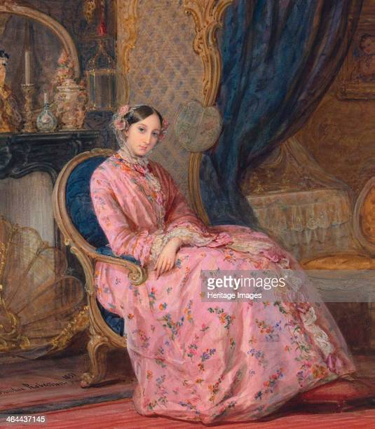 Portrait of Grand Duchess Maria Nikolaevna of Russia middle of the 19th century Duchess of Leuchtenberg Found in the collection of the State...