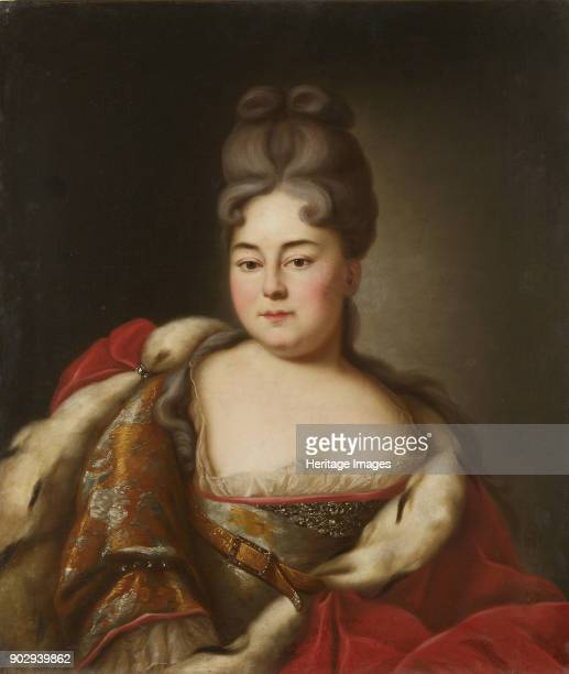 Portrait of Grand Duchess Natalya Alexeevna of Russia sister of tsar Peter the Great Found in the Collection of State Museum of Architecture History...