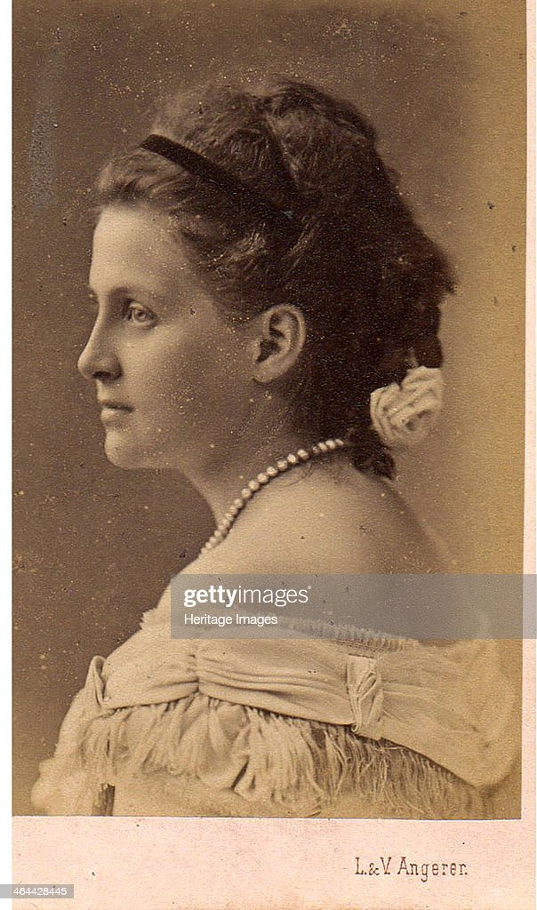 Portrait of Grand Duchess Olga Constantinovna of Russia (1851-1926). Artist: Photo studio L.&V. Angerer, Vienna : News Photo