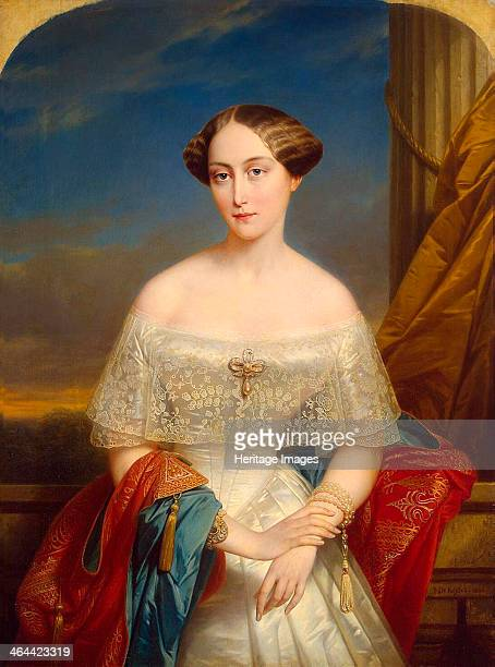 Portrait of Grand Duchess Olga Nikolaevna of Russia', , Queen of Württemberg, 1848. Keyser, Nicaise de . Found in the collection of the State...