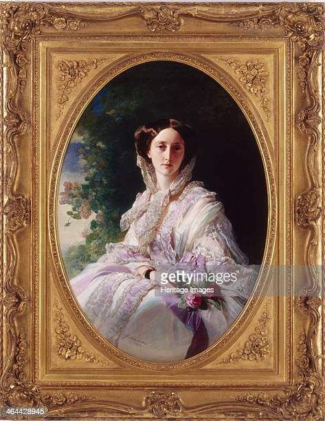 Portrait of Grand Duchess Olga Nikolaevna of Russia , Queen of Württemberg, 1856. Found in the collection of the Landesmuseum Württemberg.