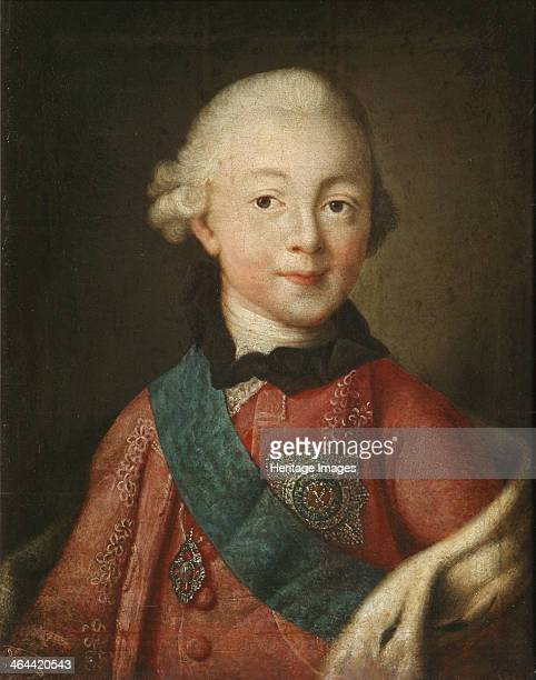Portrait of Grand Duke Pavel Petrovich 1765 Found in the collection of the Regional I Kramskoi Art Museum Voronezh