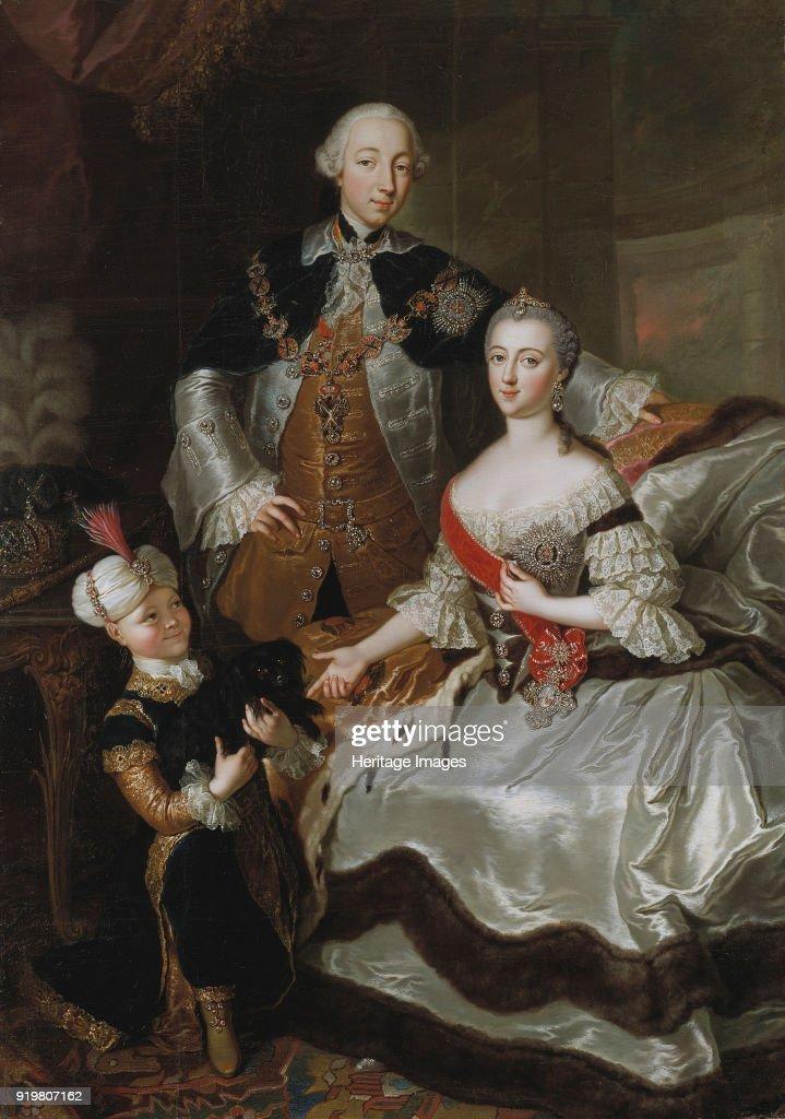 Portrait Of Grand Duke Pyotr Fyodorovitch And Grand Duchess Catherine Alekseyevna : News Photo