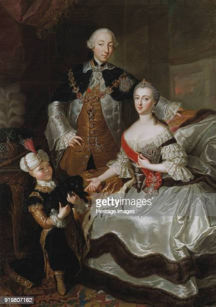 Portrait of Grand Duke Pyotr Fyodorovitch and Grand Duchess Catherine Alekseyevna 1756 Found in the collection of Nationalmuseum Stockholm