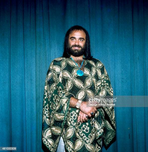 Portrait of Greek musician Demis Roussos London England 1976