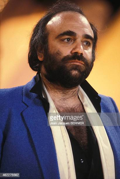 Portrait of Greek singer Demis Roussos on February 19, 1983 in Paris, France.