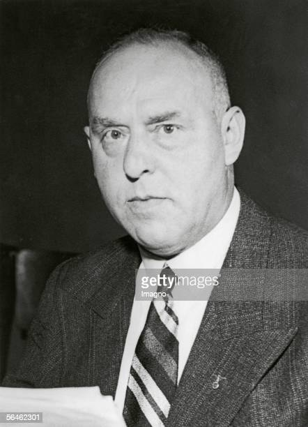 Portrait of Gregor Strasser the national socialist vicechancellor and assemblyman of the parliament of the German Reich Germany Photography 1411933...