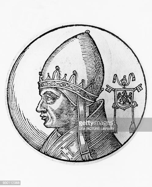 Portrait of Gregory IX , 178th Pope of the Catholic Church from 1227, engraving.