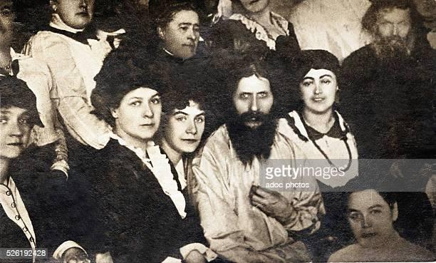 Portrait of Grigori Efimovitch Rasputin among his followers Ca 1907