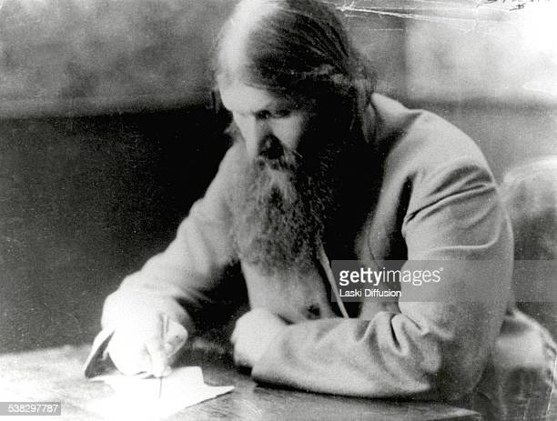 A portrait of Grigori Rasputin ca 1916 in Russia