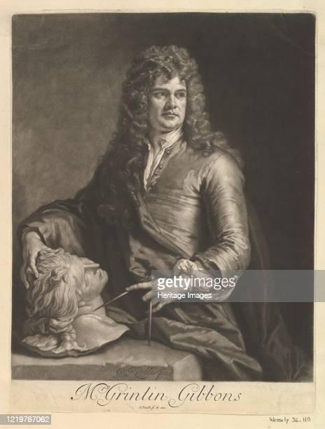 Portrait of Grinling Gibbons 1690 Artist John Smith