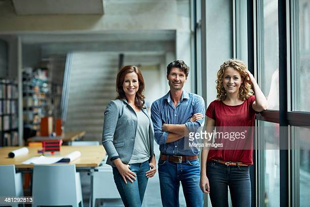 portrait of group of creative business people - three people stock pictures, royalty-free photos & images