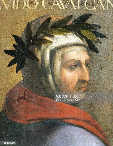 Portrait of Guido Cavalcanti Italian poet Oil on board by Cristofano dell'Altissimo 69x44 cm Florence Galleria Degli Uffizi