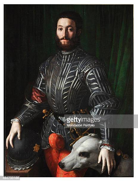 Portrait of Guidobaldo della Rovere by Bronzino 16th Century oil on panel 114 x 86 cm Italy Tuscany Florence Uffizi Gallery Whole artwork view The...