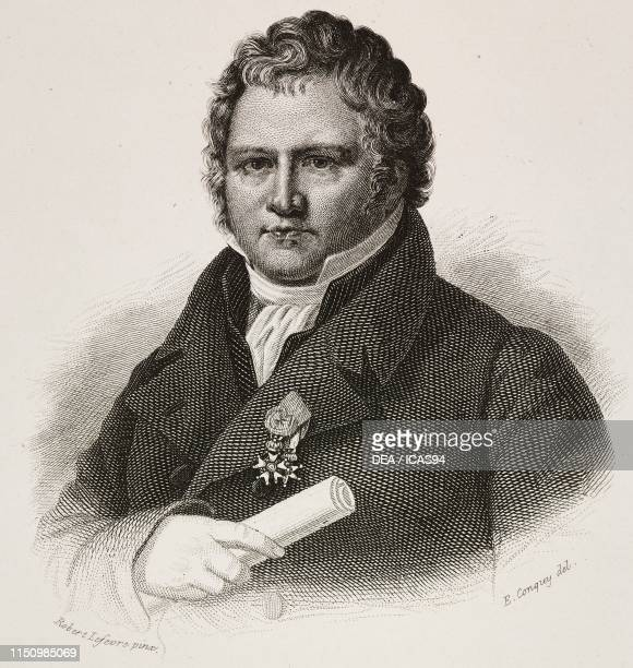 Portrait of Guillaume Louis Ternaux French industrialist and politician engraving by Conquy after a drawing by Lefevre from I benefattori...