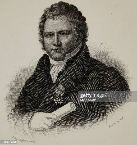 Portrait of Guillaume Louis Terneaux French entrepreneur engraving by Conquy after a drawing by Robert Lefevre