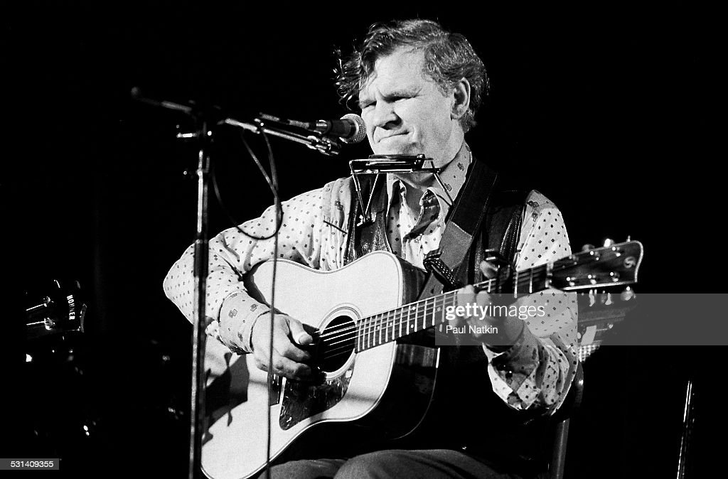 Portrait of guitarist Doc Watson, Chicago, Illinois, April 20, 1979.