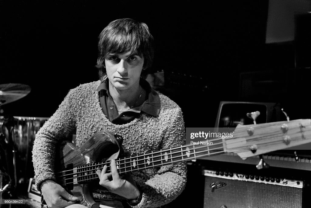 Portrait of guitarist Mike Oldfield at the Park West in