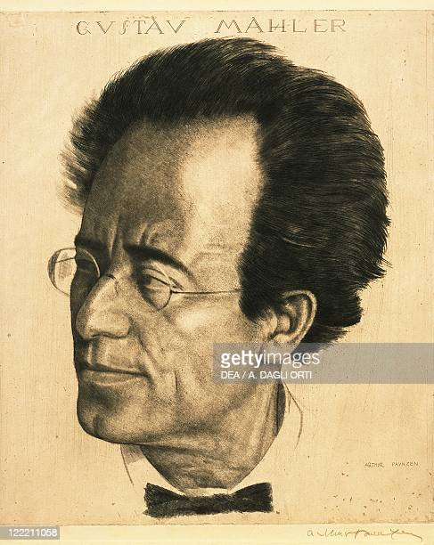 Portrait of Gustav Mahler Austrian composer and conductor of Bohemian origin Print